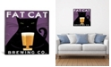 "iCanvas Fat Cat Brewing Co. by Ryan Fowler Gallery-Wrapped Canvas Print - 18"" x 18"" x 0.75"""