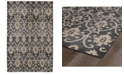 Kaleen Restoration RES01-02 Black 4 'x 6' Area Rug