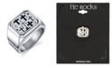 He Rocks Square Cross Ring in Stainless Steel