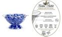 Golden Rabbit Cobalt Swirl Enamelware Collection 1.5 Quart Colander