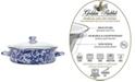 Golden Rabbit Cobalt Swirl Enamelware Collection 5 Quart Saute Pan