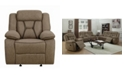 Macy's Coaster Home Furnishings Houston Pillow-padded Glider Recliner