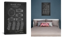 """iCanvas Hockey Puck Charcoal Patent Blueprint by Aged Pixel Wrapped Canvas Print - 40"""" x 26"""""""