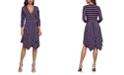 BCBGMAXAZRIA Striped Wrap Dress