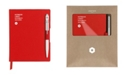 CARAN d'ACHE A6 Red Notebook with White 849 Ballpoint Pen