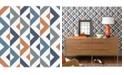 "A-Street Prints 20.5"" x 396"" Seesaw Geometric Linen Wallpaper"