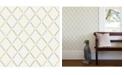 "A-Street Prints 20.5"" x 396"" Allotrope Linen Geometric Wallpaper"