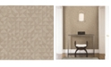 "A-Street Prints 20.5"" x 396"" Gallerie Geometric Wood Wallpaper"