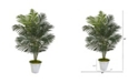 """Nearly Natural 58"""" Paradise Palm Artificial Tree in Metal Bucket"""