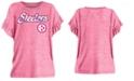 5th & Ocean Big Girls Pittsburgh Steelers Ruffle Foil T-Shirt