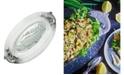 Arthur Court Designs Aluminum Salmon Fish Bagel Lox Glass Platter