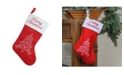 """Northlight 15.75"""" Red and White """"Merry Christmas"""" Tree Stocking with White Cuff"""