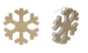 "Northlight 7.5"" Faux Wood Grain Snowflake Christmas Decoration"