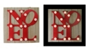 """Northlight 10"""" Candy Apple Red Letter Noel Decorative Battery Operated Wall Decor"""