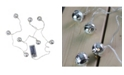 Northlight Set of 8 Battery Operated LED Silver Jingle Bell Novelty Christmas Lights - Clear Lights