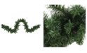 Northlight 9'  Pre-Lit LED Canadian Pine Artificial Christmas Garland with Timer - Multi Lights
