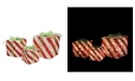 """Northlight Set of 3 Prelit Red and White Striped Gift Box Outdoor Christmas Decorations 15"""""""