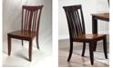 ICONIC FURNITURE Company Modern Slatback Dining Chairs, Set of 2
