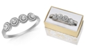 Charter Club Crystal & Imitation Pearl Cluster Bangle Bracelet, Created for Macy's