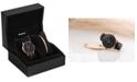 MVMT Women's Boulevard Santa Monica Black Leather Watch Set 38mm