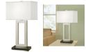 "Artiva USA Geometric 29"" Contemporary Contrast Table Lamp with Rectangular Hardback Shade"