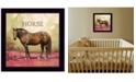 "Trendy Decor 4U Henry the Horse by Bonnie Mohr, Ready to hang Framed Print, Black Frame, 14"" x 14"""