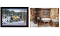 "Trendy Decor 4U Morning View Deer by Kim Norlien, Ready to hang Framed Print, Black Frame, 20"" x 14"""