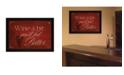 "Trendy Decor 4U Wine a Bit By Mollie B., Printed Wall Art, Ready to hang, Black Frame, 20"" x 14"""