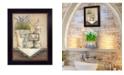 "Trendy Decor 4U Bath By Mary June, Printed Wall Art, Ready to hang, Black Frame, 10"" x 12"""