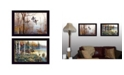 "Trendy Decor 4U Backwater Mist Collection By Jim Hansen, Printed Wall Art, Ready to hang, Black Frame, 20"" x 14"""