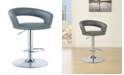 Coaster Home Furnishings Berkeley 29-Inch Upholstered Bar Stool with Adjustable Height