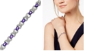 Macy's Amethyst (6-1/2 ct. t.w.) and Diamond Accent XO Bracelet in Sterling Silver