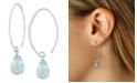 Macy's Blue Topaz (8-1/3 ct. t.w) Briolette Drop Earring in 14k White Gold