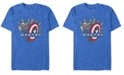 Marvel Men's Avengers Endgame Worthy Hammer and Shield, Short Sleeve T-shirt