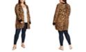 1.STATE Trendy Plus Size Animal-Print Cardigan