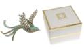 Anne Klein Gold-Tone Crystal & Stone Flying Bird Pin