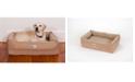 3 Dog Pet Supply Ez Wash Fleece Lounger Memory Foam Dog Bed, Medium