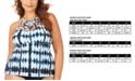Raisins Curve Trendy Plus Size Juniors' Fiji Printed Boa High Neck Tankini Top