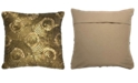 """Mod Lifestyles Glamour Collection Geometric Sequin Embroidery Pillow, 20"""" X 20"""""""
