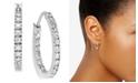 """Giani Bernini Small Sterling Silver Earrings, Cubic Zirconia Hoop Earrings, 0.6"""", (3/4 ct. t.w.)"""