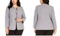 Nine West Plus Size Toggle-Closure Jacket