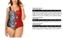 Raisins Curve Trendy Plus Size Juniors' Printed Rosalie V-Wire One-Piece Swimsuit