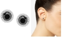 Wrapped in Love Diamond Halo Stud Earrings (1-1/2 ct. t.w.) in 14k White Gold, Created for Macy's