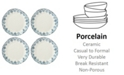 Lenox Blue Bay Dinner Plate Set/4  Ikat