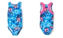 Girl Power Sport Big Girls Stella Space Cat Racer Back Leotard One Piece
