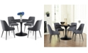Steve Silver Colfax 5-Pc. Dining Set, (Black Table & 4 Side Chairs)