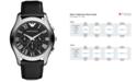 Emporio Armani Watch, Men's Chronograph Black Leather Strap 45mm AR1700
