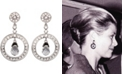 Grace Kelly Collection Rhodium Plated Hanging Star Clip On Earring