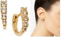 AVA NADRI Crystal Huggie Hoop Earrings