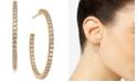 """AVA NADRI Medium Cubic Zirconia In & Out Hoop Earrings, 1.125"""""""